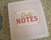 Vintage Style Letterpress Notepad