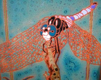 Dragonfly Tile ,CUSTOM ORDER - 4-6 wks production time , fine detail , kitchen, bath, fireplace surround or framed