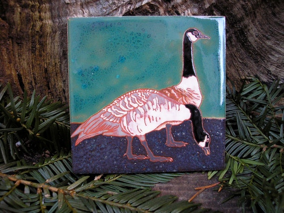 Canada Geese Bird tile Arts and Crafts, Mission style, birders, kitchen, bath, fireplace surround or framed