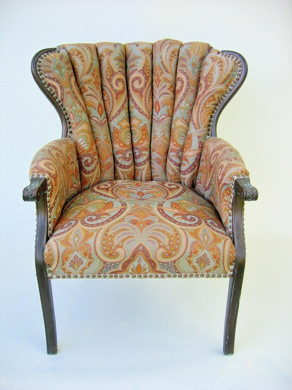 Redesigned Vintage Channel Back Chair
