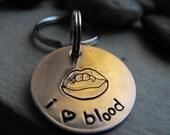 I LOVE BLOOD Keychain