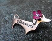 Custom  Doggie Brooch  with flower