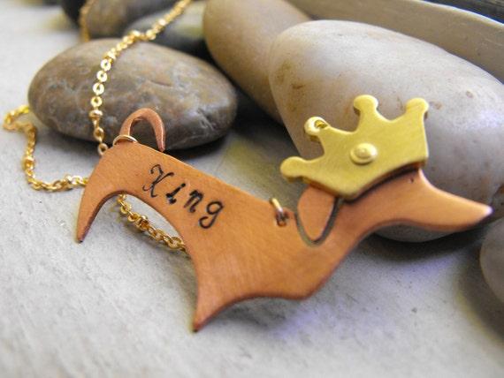 Dachshund copper pendant...     Ready to ship