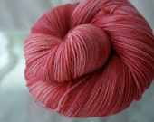 CLOSING SALE Custard 100 percent Merino Fingering weight Yarn in Candy Floss