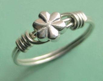 Little Beaded Sterling Silver Flower Ring