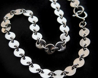 Skinny Sterling Silver Sequin Bracelet