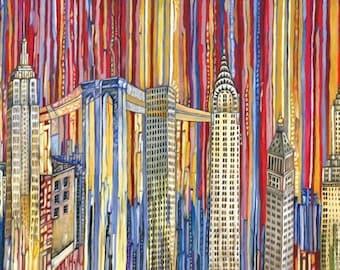 Wrigley Field Chicago Cubs 5x7 Art Print By Anastasia Mak