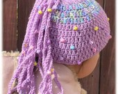 Kids Hat, Fun hat for anybody, Catch Up My Tail Kids Hat, Beanie Hat, colorful designer hat by annaart72