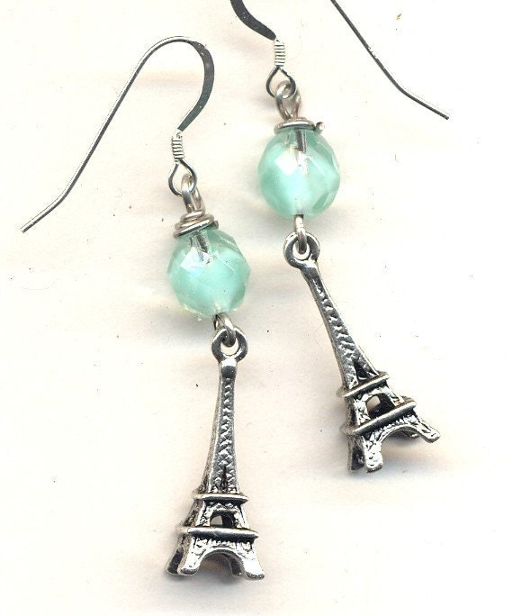 I'd rather be in Paris .... Sterling Silver wire Earrings SALE