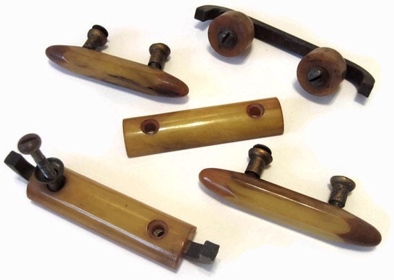 Vintage Bakelite Drawer Pulls Hardware Butterscotch Repurpose