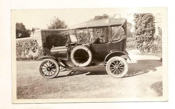 vintage photo Model T Car Antique Automobile