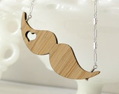 Blond Mustache Love Necklace