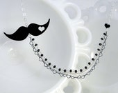 The Villain - Mustache Necklace reseved for Bri