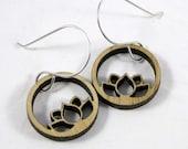Floating Lotus Earrings in Bamboo
