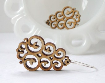 East Earrings in Bamboo - Vane Collection