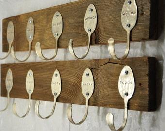 2 Personalized Spoon Hook Racks