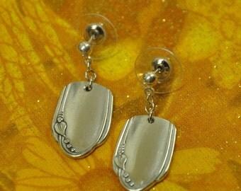 Meadowbrook  Silver Post Spoon Earrings