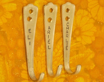 3 personalized RAD Silverware Hooks