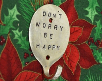 Silver Spoon Hook Dont Worry Be Happy Personalized