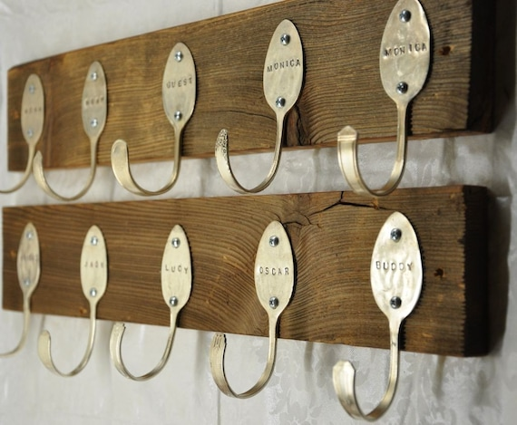 1 Personalized Spoons Coat Rack