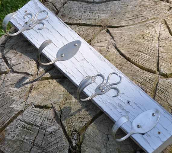 Shabby Chic Silver Spoons And 003 Style Fork Hook Rack