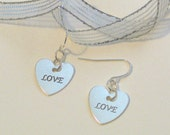 Silver Heart Love Earrings