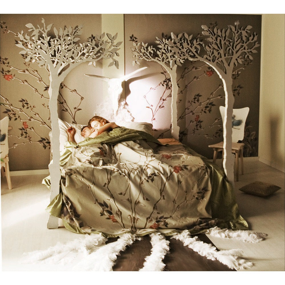 under the apple tree canopy bed modern romantic scandinavian. Black Bedroom Furniture Sets. Home Design Ideas