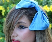 Serenity Baby Blue Bow Headband Alice in Wonderland Inspired