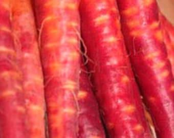 Organic Carrot Atomic Red Heirloom Vegetable Seeds