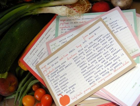 Seasonal Recipe Cards - Set of 20