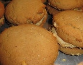 Peanut butter cream filled peanut butter cookie pies