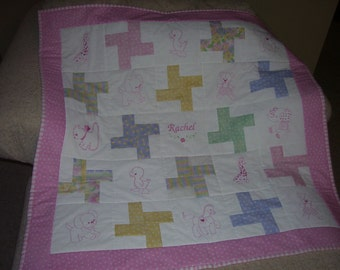 Baby Quilt PERSONALIZED