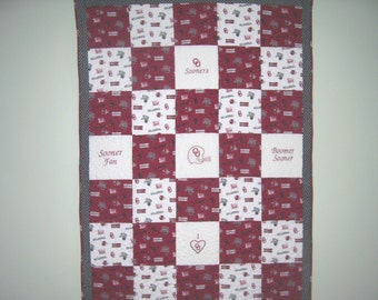 Oklahoma Sooners Embroidered Quilt Kit