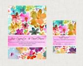 Floral Printable Wedding Invitation Water Color