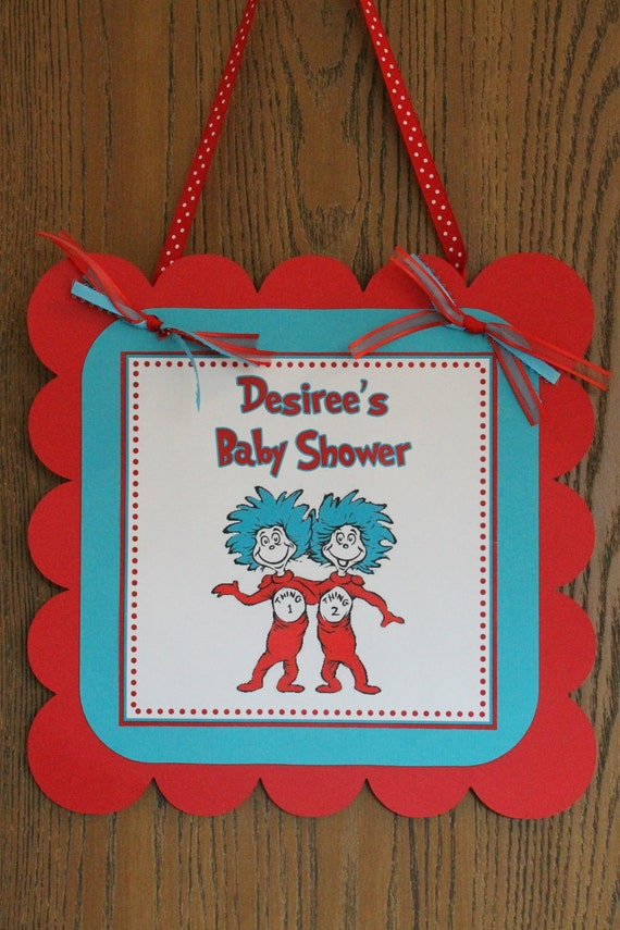 Items Similar To Dr Seuss Thing 1 Thing 2 Baby Shower