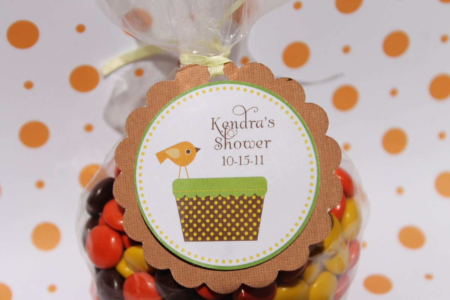 autumn boy baby shower favor tags