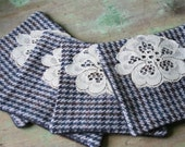 Wool Tweed Reversible COASTERS - Set of 4