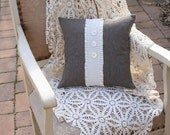 Tweed PILLOW COVER, Shabby Chic - 14 Inch