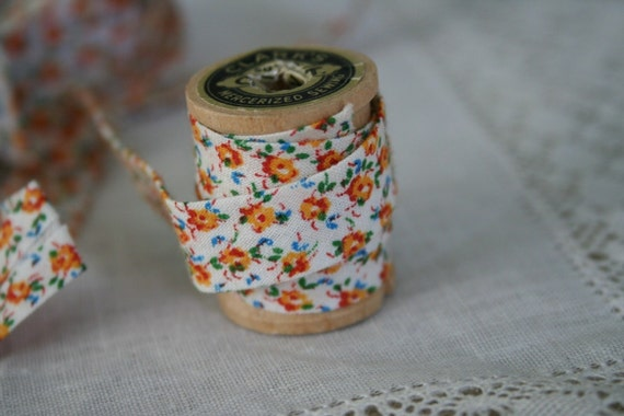 Vintage Calico Seam Binding - 3 Yards