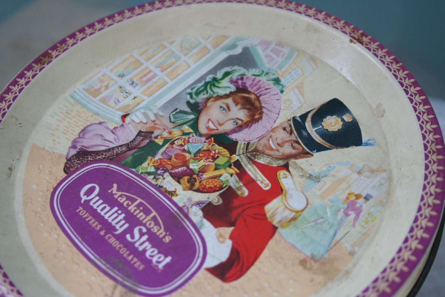Clearance Vintage Quality Street Candy Tin