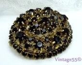 Vintage Brooch Garnet Glass Pendant
