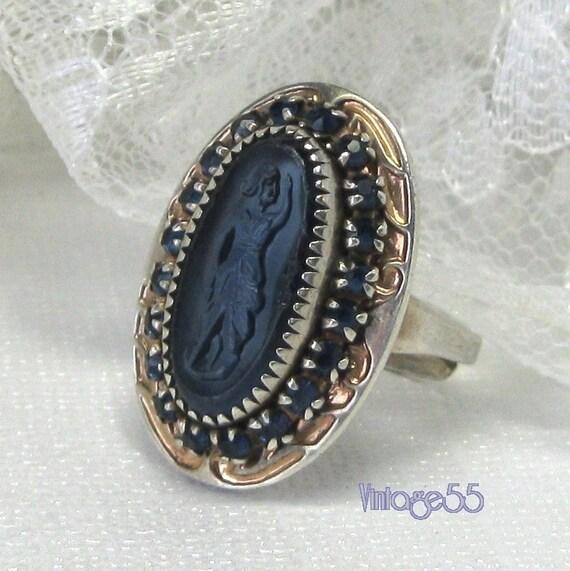 Vintage Ring Sterling Sapphires
