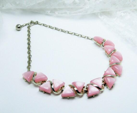 Vintage Pink moonglow Necklace