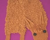 Alpaca Scarf Looks Like an Alpaca - Brown