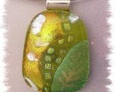 Lime Green Dichroic Pendant