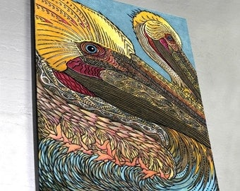 The Pelicans Wall Panel