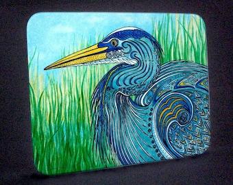 Great Blue Heron Cutting Board and Hotplate