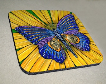 Butterfly Coaster Set of 4