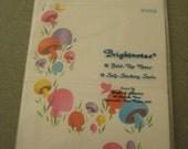 RESERVED Vintage Stationery Set, Mushrooms, Bright Notes, 1970s Mushroom Images