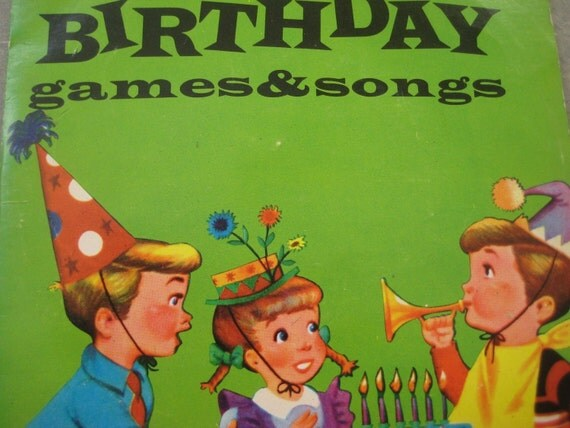 Vintage 45 rpm children s record happy birthday games and songs